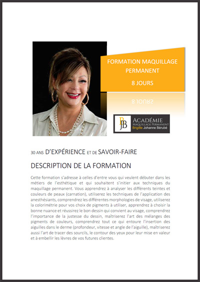 PDF de la Formation en Maquillage Permanent