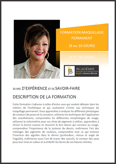 Formation Maquillage Permanent 2021